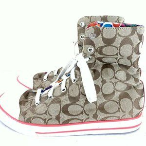 Coach High Top Canvas Sneakers Size 9